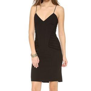 L'agence black spaghetti strap ruched dress 4